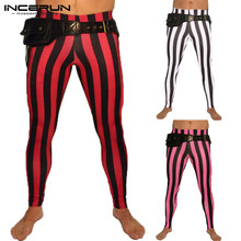 Fashion Slim Striped Pant Bodybuilding Pants Leggings Joggers Trousers Skinny El