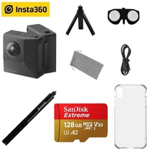 Insta360 EVO 5.7K vidéo 180 3D VR/panoramique Insta 360 caméra pour Android et iPhone XS/Xs Max/XR/X/8/8 plus/7/7 plus/6s/6s plus