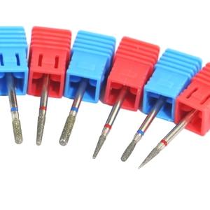Image 5 - 1Pcsเล็บเพชรเจาะเครื่องกัดเจาะเล็บBits Cuticle Cutterสำหรับเล็บไฟล์เล็บไฟฟ้าเสี้ยนมิลลิ่งเครื่องบด