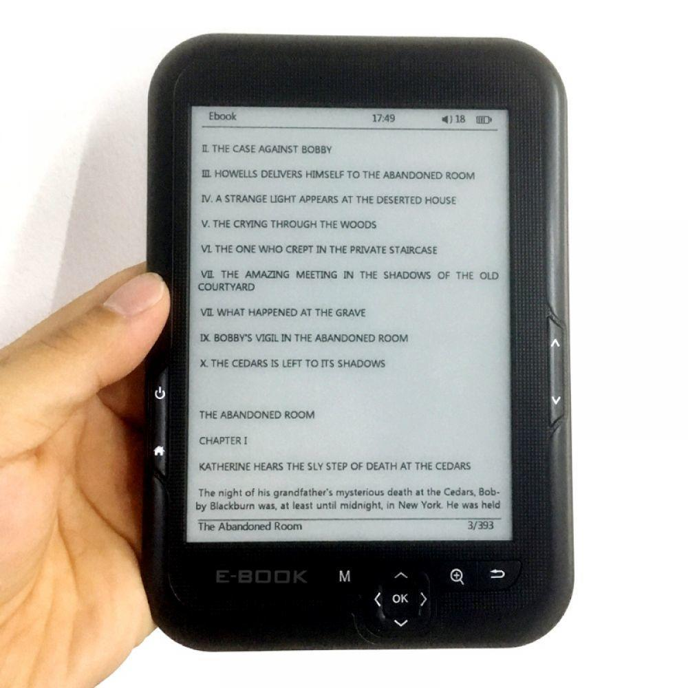 16 GB 6 pouces lecteur d'ebook e-ink Support micro SD carte e-book lecteur D'expansion protection des yeux e livre Intégré batterie li-ion