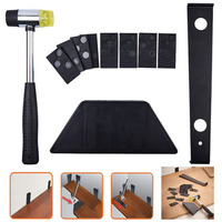 1 Set DIY Home Wood Laminate Installation Kit Set Wooden Floor Fitting Tool with 20pcs Mallet Spacers Hand Tool Set