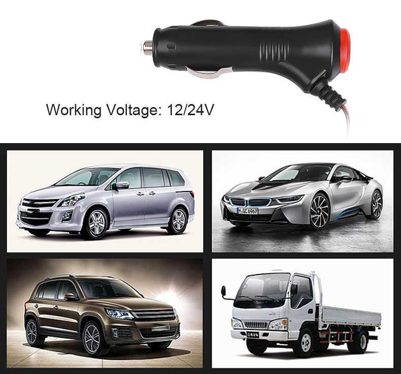 DC12V Car Cigarette Lighter Socket Plug Connector LED On Off Switch Car Styling Lighter Socket Splitter Plug Connector
