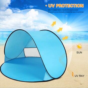 Tienda De Bebé De Playa | Tienda De Campaña Al Aire Libre Ultraligera Profesional, Tienda De Playa Para Bebés, Refugio Solar Anti UV Portátil Para Pesca, Senderismo, Tienda Emergente Instantánea