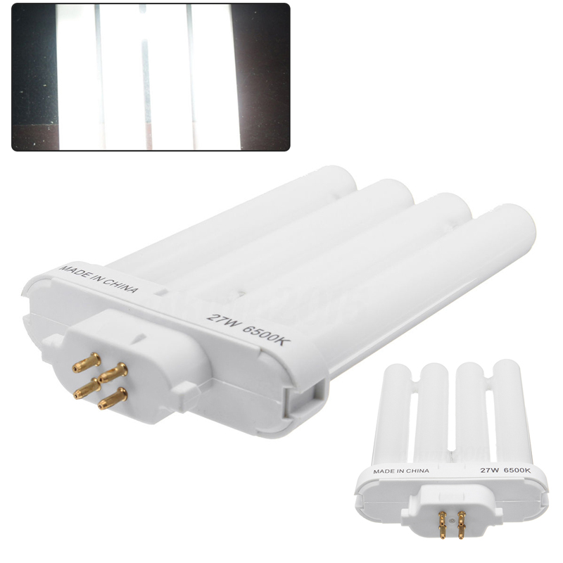 IKVVT 27W FML27/65K Energy Saving Compact Fluorescent 4 Pin Quad Tube Light Bulb Lamp