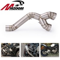 60MM Motorcycle Exhaust Stainless Steel Exhaust Middle Link Pipe Slip on Exhaust System For BMW S1000RR 2010 2012 2013 2014