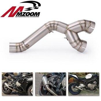 60MM wydechowy motocykl rura wydechowa ze stali nierdzewnej rura z łączem pośrednim Slip on układ wydechowy dla BMW S1000RR 2010 2012 2013 2014
