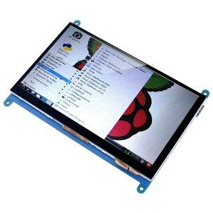 Image 4 - 7 بوصة بالسعة شاشة تعمل باللمس TFT شاشة الكريستال السائل HDMI وحدة 800x480 ل التوت Pi 3 2 نموذج B و RPi 1 B + A BB الأسود PC Var
