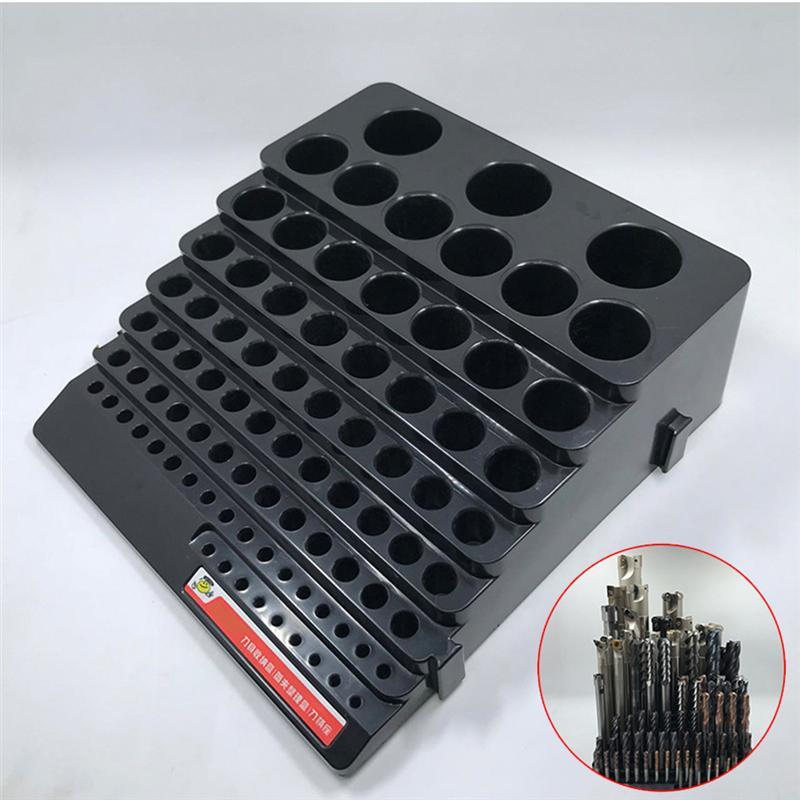 Черный ящик для хранения сверл Органайзер ручной инструмент держатель коробка фреза нож резак держатель коробка экономия пространства Органайзер чехол|Сверла|   | АлиЭкспресс