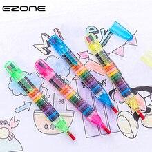 EZONE 1PCS 20 Colors Oil Paint Pen Colorful Pencils Drawing Cratons Stacker Pencil Art Painting Gift for Children Kids Oil Paint