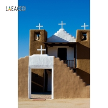 Laeacco Seaside Church Backdrop Christ Worship Place Portrait Photography Background Photographic Backdrops For Photo Studio
