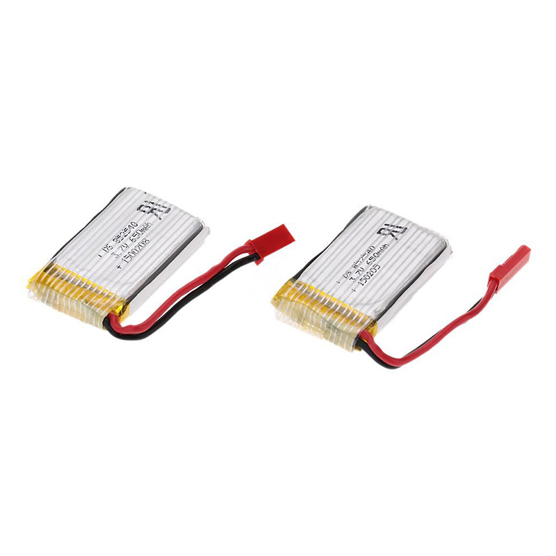 FULL-2pcs 3.7V 650mAh Lipo Battery For Huajun W609-9 W609-10 RC Hexacopter Drone