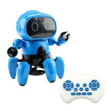 LEORY USB Intelligent RC Robot Programmable Gesture Following Avoidance Sing Dance RC Smart Robot Toy Upgraded(China)