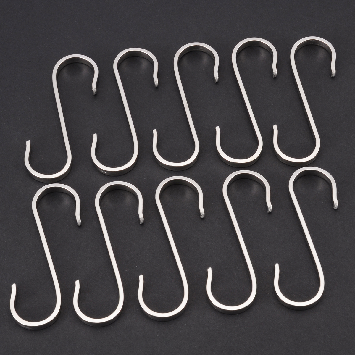 Home Improvement Bathroom Hardware 10pcs Stainless Steel S Shaped Hooks Multifunctional Metal Flat Hanging Hooks Hangers For Kitchen Bathroom Garden Bedroom Moderate Cost