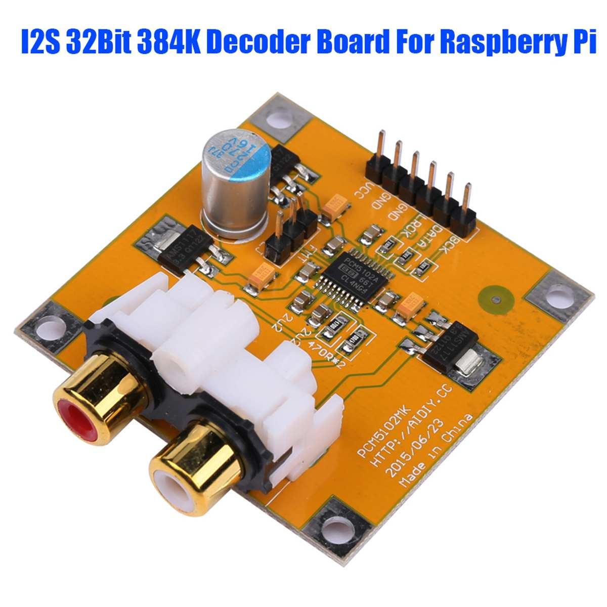 CLIATE 1 PC DAC carte décodeur M5102/PCM5102A I2S 32Bit 384 K pour Raspberry Pi rouge Core Player