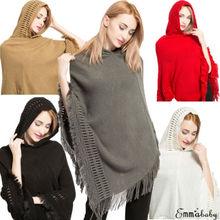 47a0d18a0b88 Avec Chapeau Poncho Foulards Designer Gland D hiver Écharpe Pour Femmes  Mode Chaud Solide Châle Doux Laine Couverture En Gros Dr..