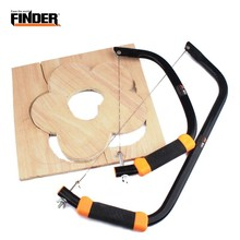 FINDER DIY Hand Small Saw Hacksaw Frame Set With 10pcs Spiral Steel Wire Blade Model Woodworking Wood Tool Hobby Tools Carpenter