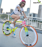 New Brand Colorful Carbon Steel 26 Inch Fixed Gear Rear Pedal Brake Bicicleta Student Bike Road Bicycle