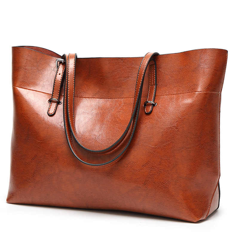 Genuine Leather Bag Handbags Brand Real Leather Handbags Ladies Tote Hand Bags Female Designer Shopper Shoulder Bags For C832