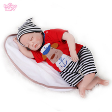 Logeo Baby 55cm Reborn Baby Doll soft silicone reborn baby  lovely Lifelike Newborn baby Dolls Kids Toys Gift bebes reborn dolls hot sale 22 reborn dolls lifelike handmade vinyl baby newborn dolls with clothes girls gift bedtime early education toys