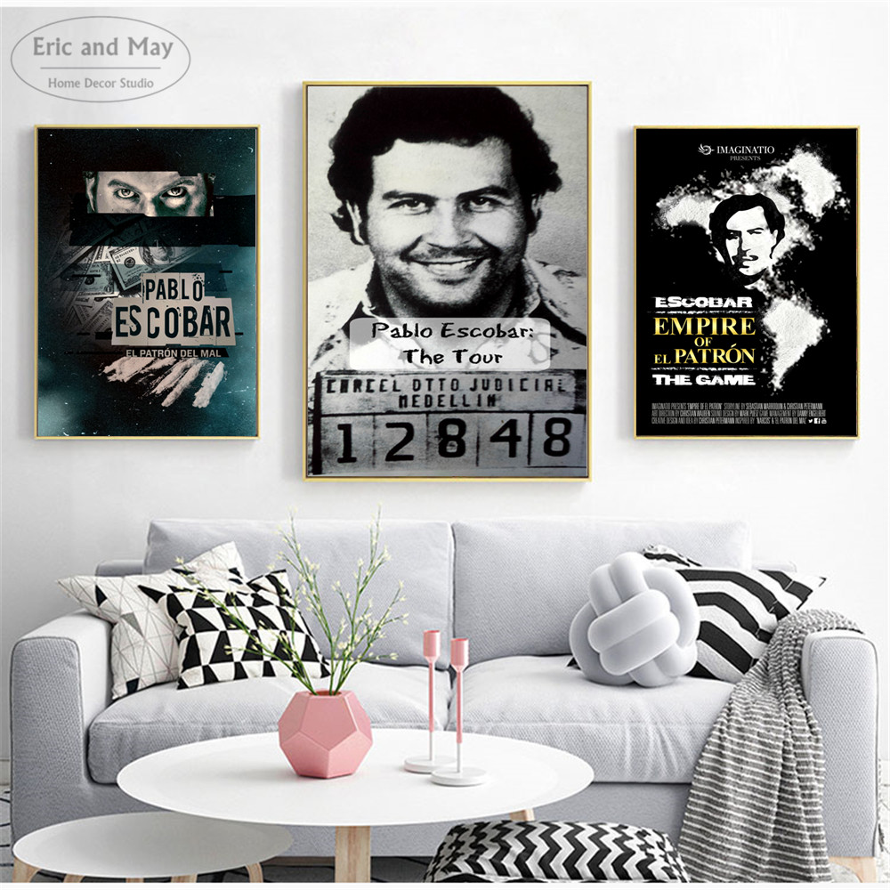 Pablo Escobar Colombia Classic Wall Art Canvas Painting