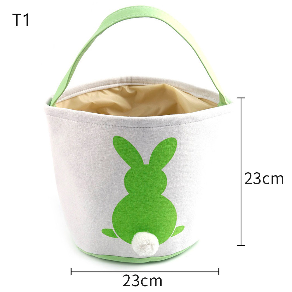 Easter Basket Bag 10pcs lot 18 Styles Easter Bunny Tote Bag Monogrammed Blank Easter Rabbit Buckets