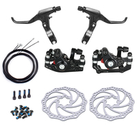 Mountain Bike Bicycle Mechanical Disc Brake Front & Rear Set With 160mm Rotors