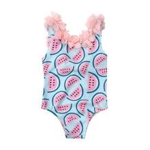 Pudcoco/купальный костюм с арбузом для маленьких девочек, одежда для купания, купальный костюм-бикини, Цельный купальник, одежда для купания для девочек от 0 до 4 лет