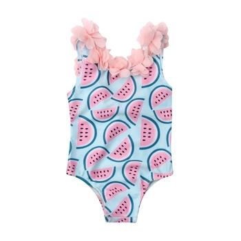 Pudcoco פעוט תינוקות תינוק בנות אבטיח בגד ים בגדי ים שחייה ביקיני מקשה אחת בגד גוף בגדי ים 0-4Years ילדה
