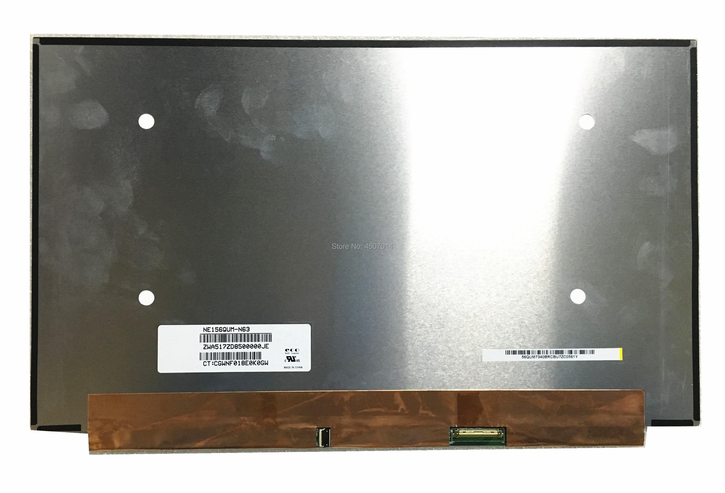 Free Shipping 15 6 inch NE156QUM N63 NE156QUM N63 Laptop Lcd Screen 3840 2160 EDP 40