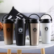 2018 Double Wall Stainless Steel Vacuum Flasks 500ml Thermo Cup Coffee Tea Milk Travel Mug Thermol Bottle Thermocup thermoses(China)