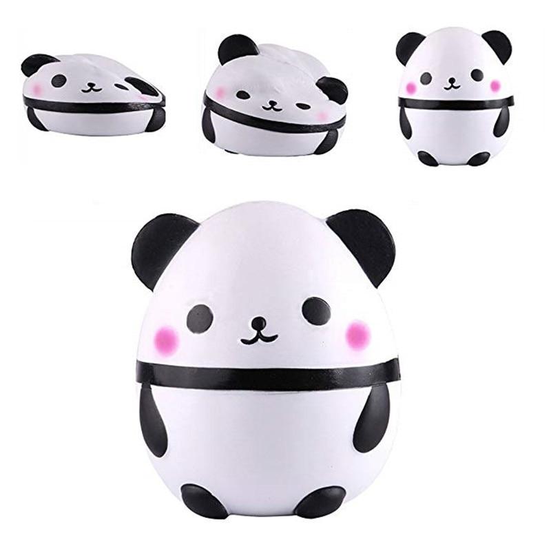 Kawaii Squishy 12CM Jumbo Cute Panda Bear Slow Rising Soft Squeeze Straps Decor Toy Kid Fun Stress Reliever Gift