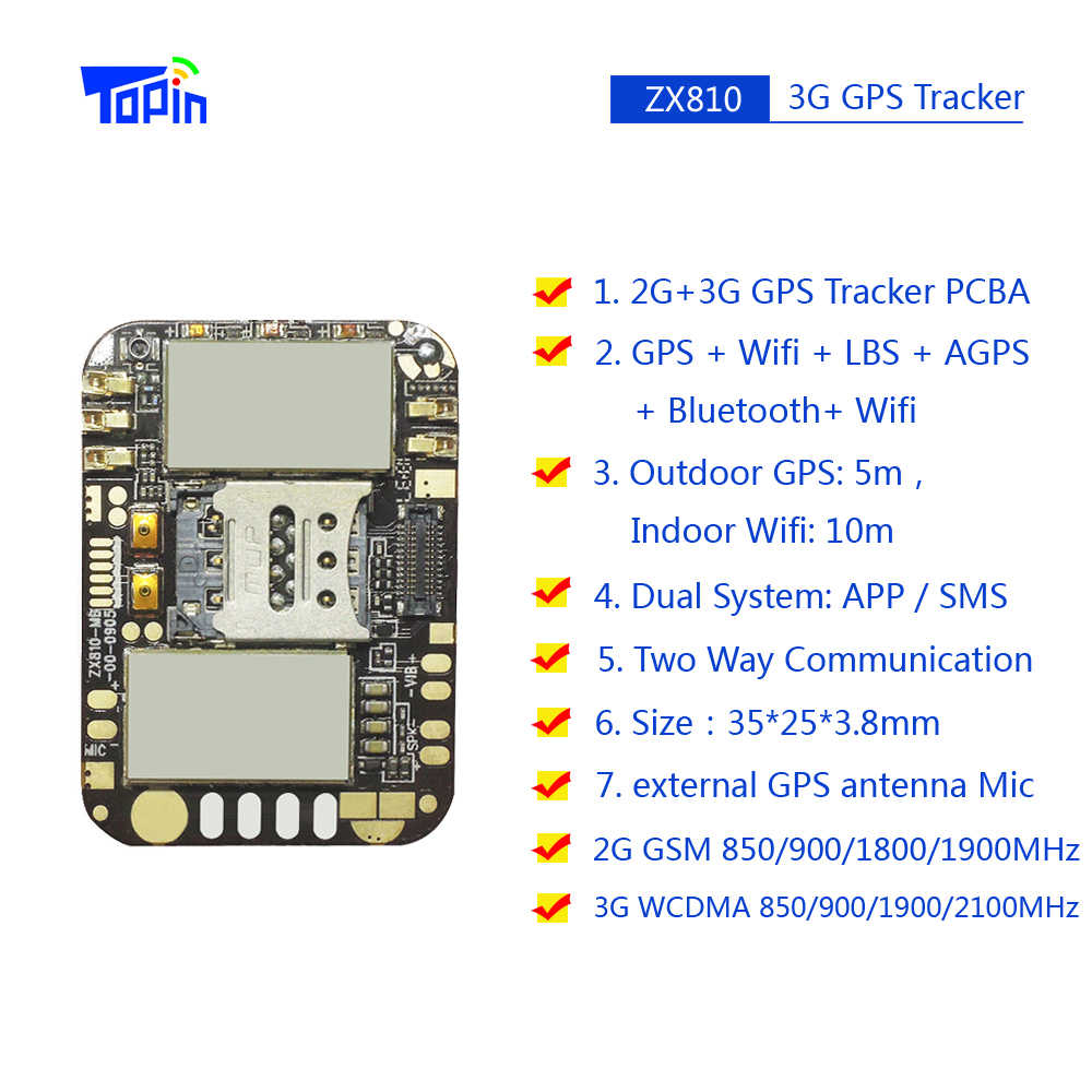 最小3グラムgpsトラッカーZX810 pcbaモジュールスマートアンドロイドos 2グラムgsm 3グラムwcdma M6580 sos gpioポート無線lan bluetooth gps追跡チップ