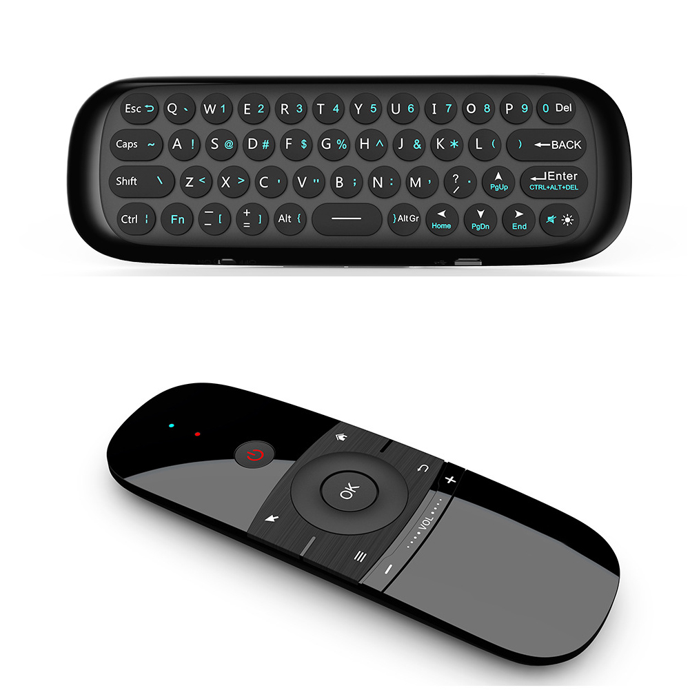 Motion Sense Infrared Learning Mini Keyboard Wireless Black Air Mouse Portable 2.4G Remote Control For Android TV Box PC #0109 image