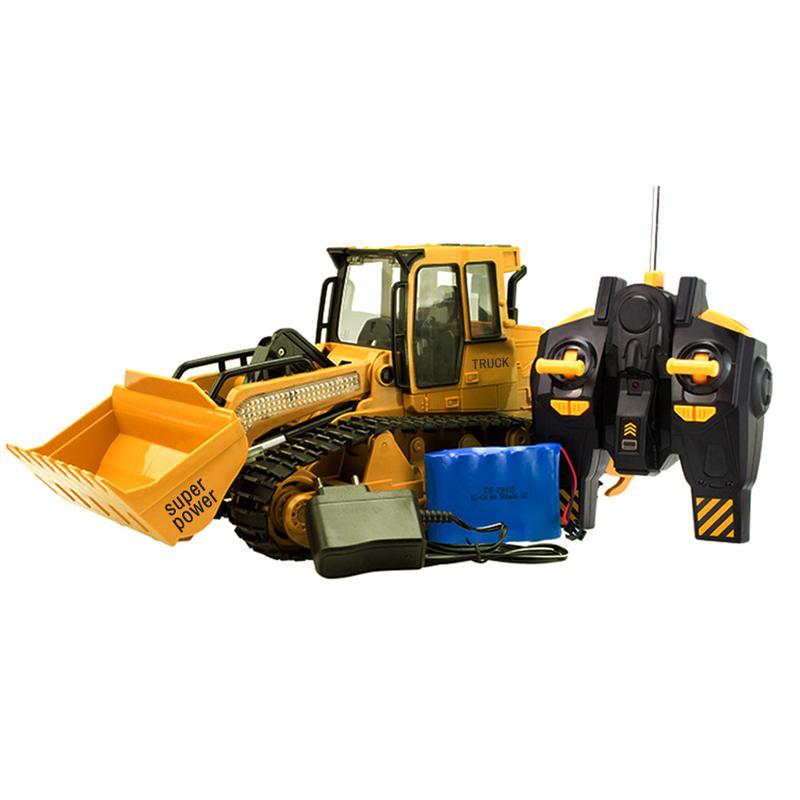 Enfants RC pelle Bulldozer jouets avec musique et lumière enfants garçons RC camion jouets cadeaux RC ingénierie voiture tracteur Brinquedos