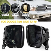 1Pair 12V 3000K HB4 Smoked Bumper Fog Halogen Lights For Dodge RAM 1500 2013 2014 2015 2016 2017 2018