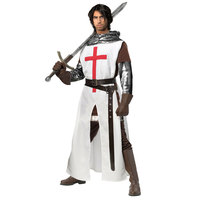 Adult European Crusaders Medieval Warrior Cosplay Knight Halloween Costume For Men