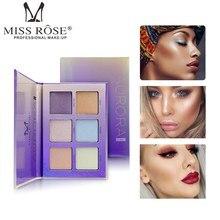 MISS ROSE Makeup Highlighter Palette Shimmer Brighten Concealer Face Powder 3D Bronzer Contouring Cosmetics Highlight Kits