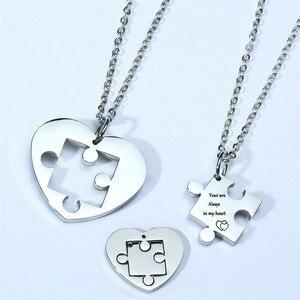 Autism Puzzle Piece Heart Neck