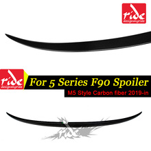 For BMW 5-Series M5 F90 Rear Trunk Wings Spoiler M5-Style Carbon Fiber Lid Wing Tail Auto Car Styling 2019-in