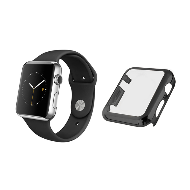 buy online 4cc35 3f720 US $2.98 |For Apple Watch Series 1/2 38/42mm Ultra thin Metal Plated Watch  Case Cover Protective Shell Screen Protector Full Body Case-in Smart ...