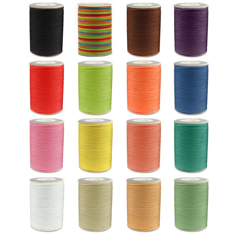 0.8mm Waxed Thread Repair Cord String Sewing Leather Hand Wax Stitching DIY Thread For Jewelry Making Bracelet Necklace DIY #116