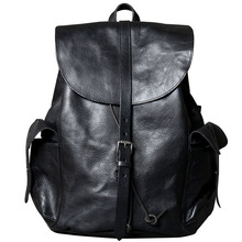 ORIGINAL genuine leather backpacks for women cow men backpack big capacity vegetable tanned