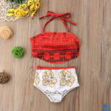 цены на Lovely Cute Toddler Kids Baby Girl Tassels Red Floral Tankini Swimwear Swimsuit Bikini Set Bathing Suit  в интернет-магазинах
