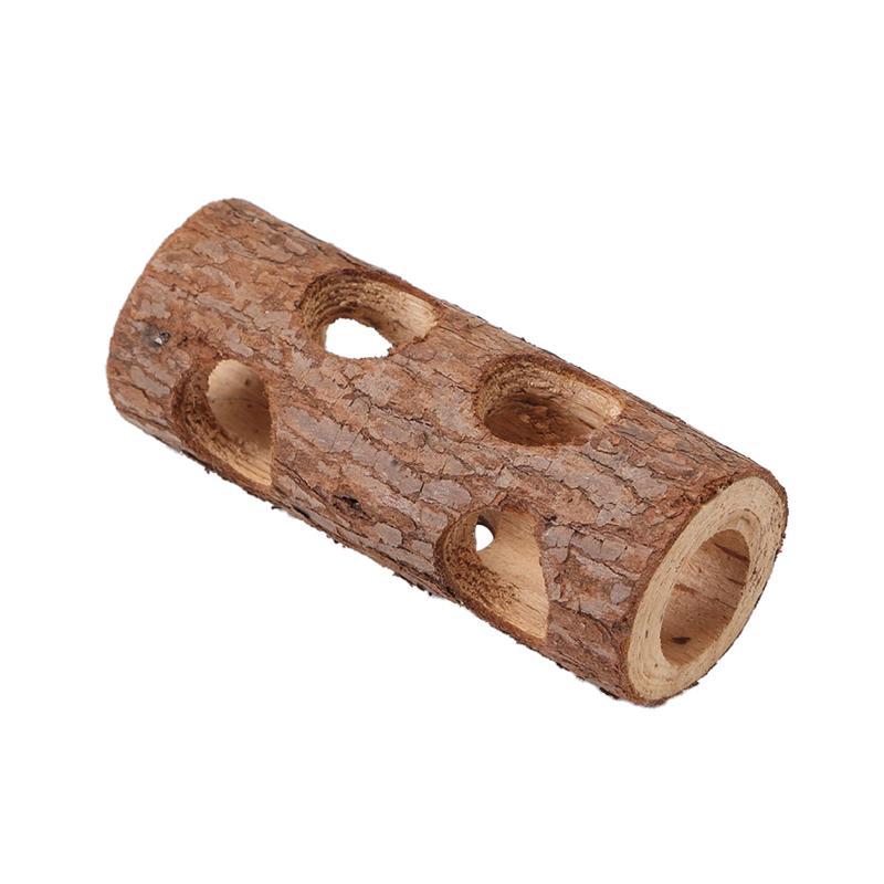 1 Pc Ungiftig Baum Stamm Zähne Schleifen Massivholz Umweltfreundliche Tunnel Rohr Spielzeug Für Mäuse Hamster Kaninchen