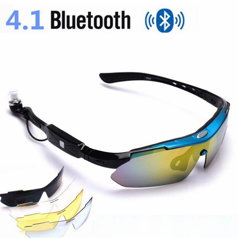 Hot Sale 4.1 Stereo Bluetooth Smart Glasses Sports Headphones Glasses Five Lens Kit Dropship 11.11