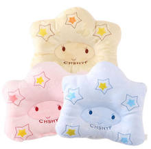 2019 Roll Prevent Flat Head Support Neck Memory Foam Newborn Baby Infant Pillow(China)