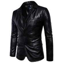 [European Code] 2019 Spring New Mens Leather Jacket British Wind Trend Individual Car