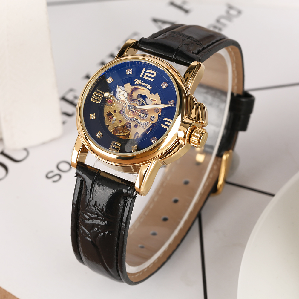 Women Watches Black Silver Golden Skeleton Watch Automatic-self-winding Mechanical Watches Elegant Luxury Timepieces Gifts