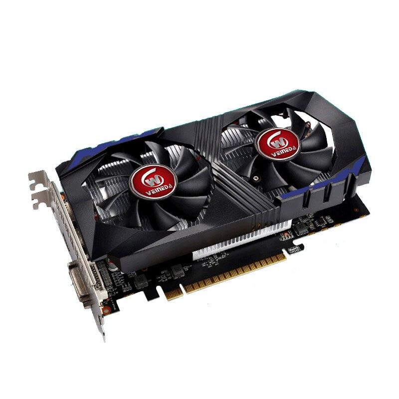 VEINEDA Carte Vidéo pour Ordinateur Carte Graphique PCI-E GTX1050Ti GPU 4g DDR5 pour nVIDIA Geforce Jeu