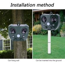Hign Quality Garden Solar Ultrasonic Drive Pest Animal Bird Cat Dog Fox Repeller Repellent For Garden Park Outdoor